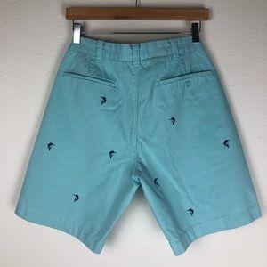 J. Crew Shorts - J. Crew Flat Front Aqua Blue Shorts Size 32